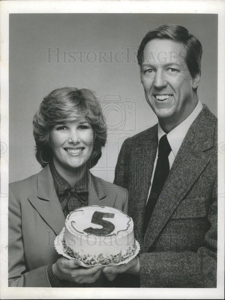 1980 Press Photo David Hartman Host Joan Lunden Good Morning America - Historic Images