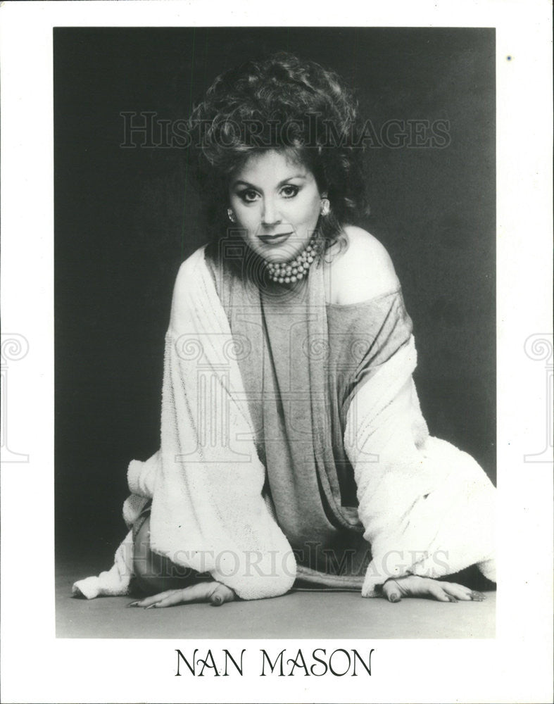1996 Press Photo Cabaret Diva Nan Mason - Historic Images