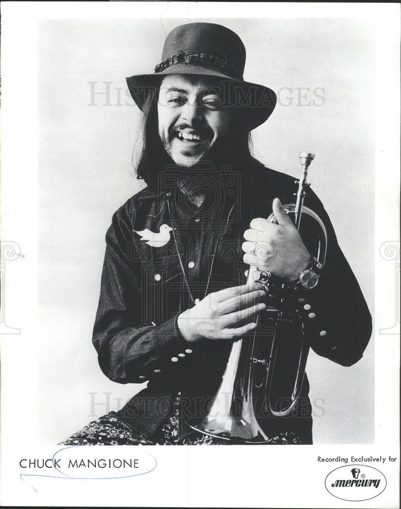 1973 Press Photo Charles Frank Chuck Mangione American Flugelhorn Player Compose - Historic Images