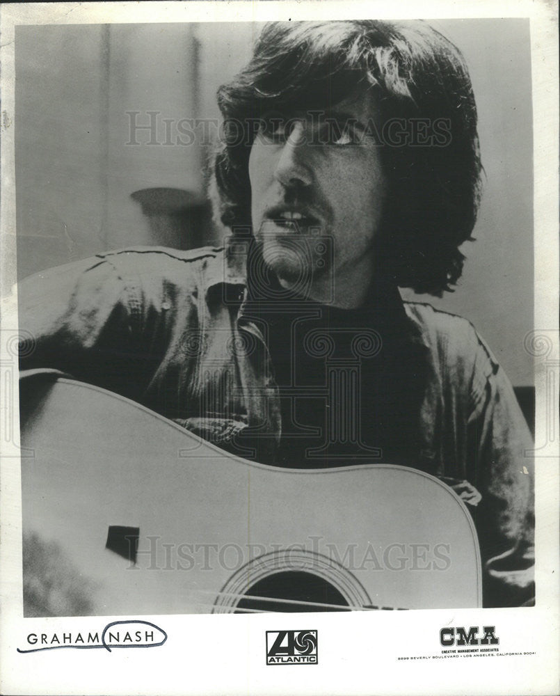 1971 Press Photo Graham William Nash English singer-songwriter light tenor vocal - Historic Images