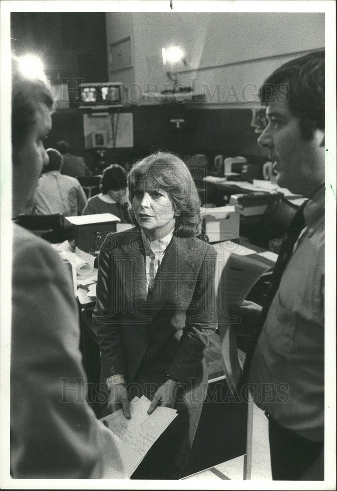 1979 Press Photo CAROL MARIN TELEVISION PRINT JOURNALIST ILLINOIS - Historic Images