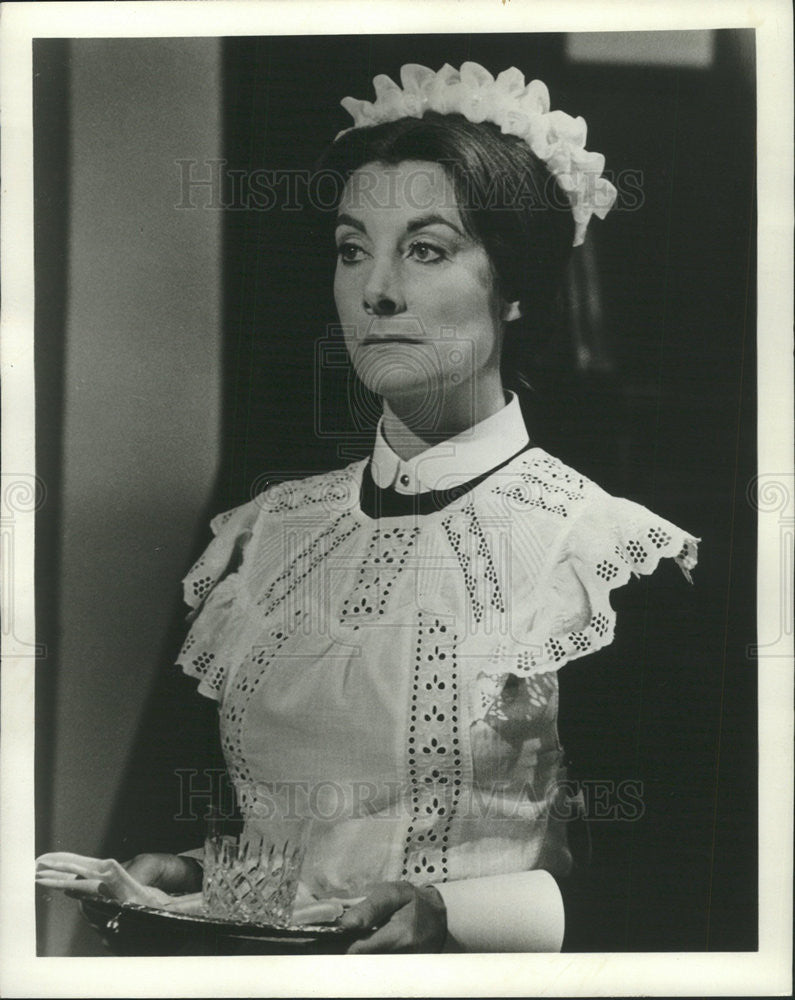 1974 Press Photo Jean Marsh In Upstairs Downstairs On Masterpiece Theatre