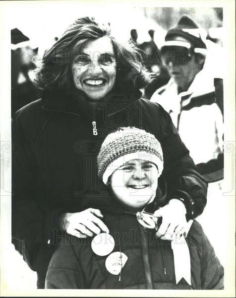 1982 Press Photo Mrs Eunice Kennedy Shriver,Special Olympics - Historic Images