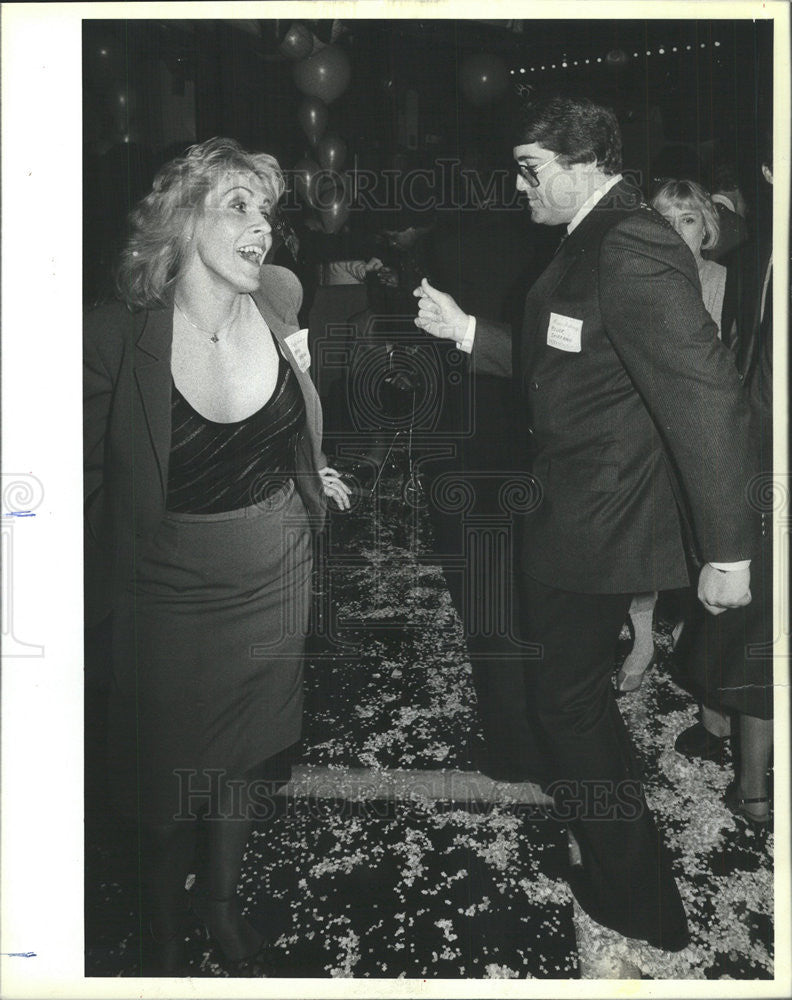 1984 Press Photo Merna Sherman and Roger Shiffman of 20th Century Fox - Historic Images