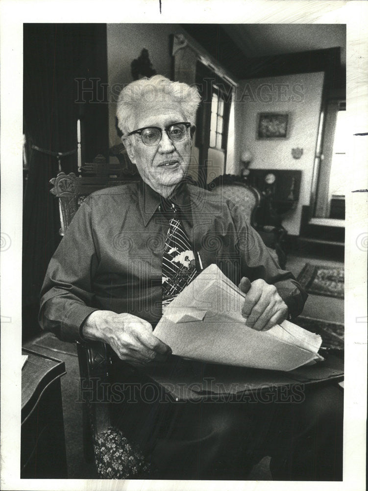 1978 Press Photo Curtis D. MacDougall,Prof of journalism - Historic Images