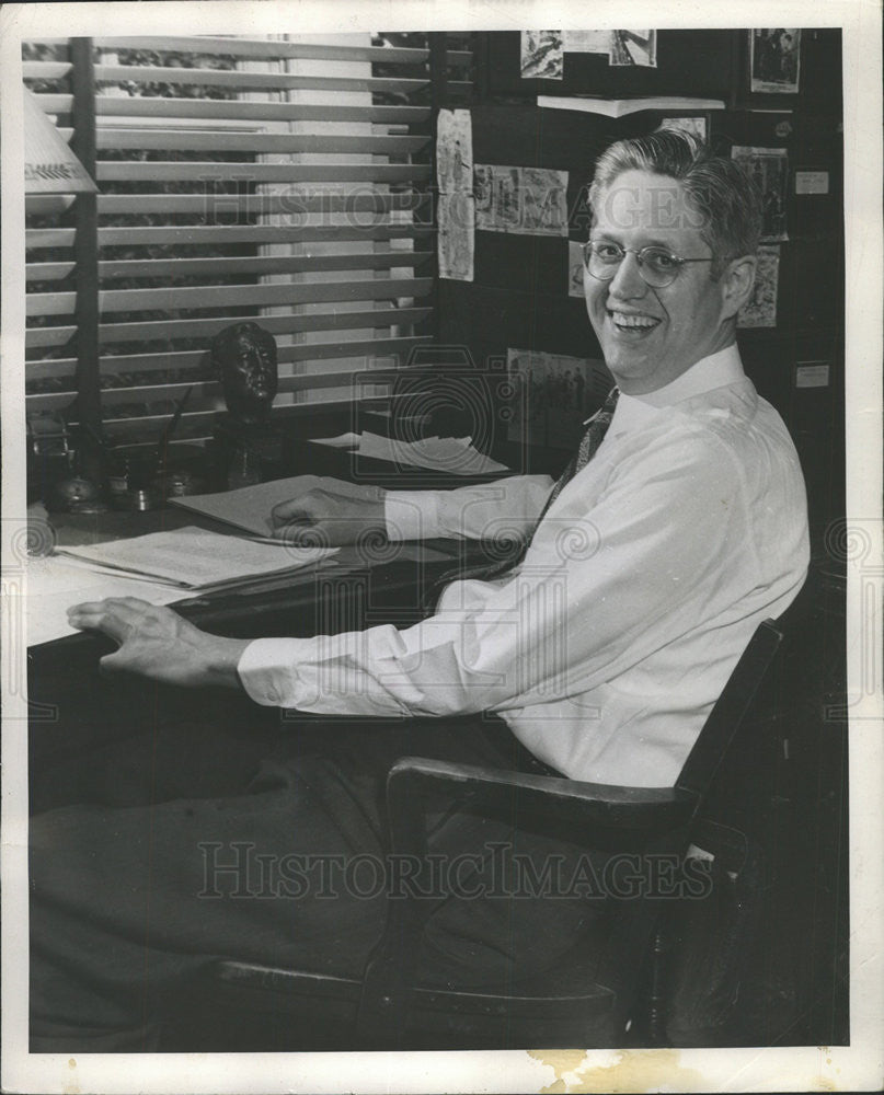 1948 Press Photo Professor Curtis MacDougall - Historic Images