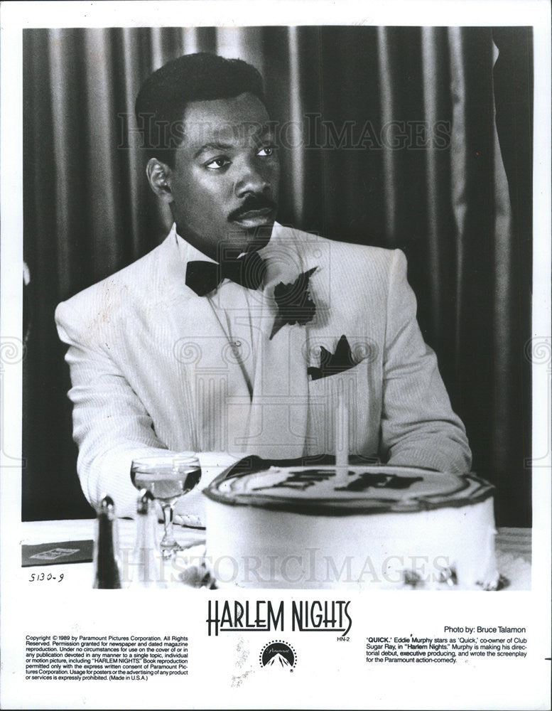 1990 Press Photo Eddie Murphy Actor Comedian Singer Director Harlem Nights Film - Historic Images