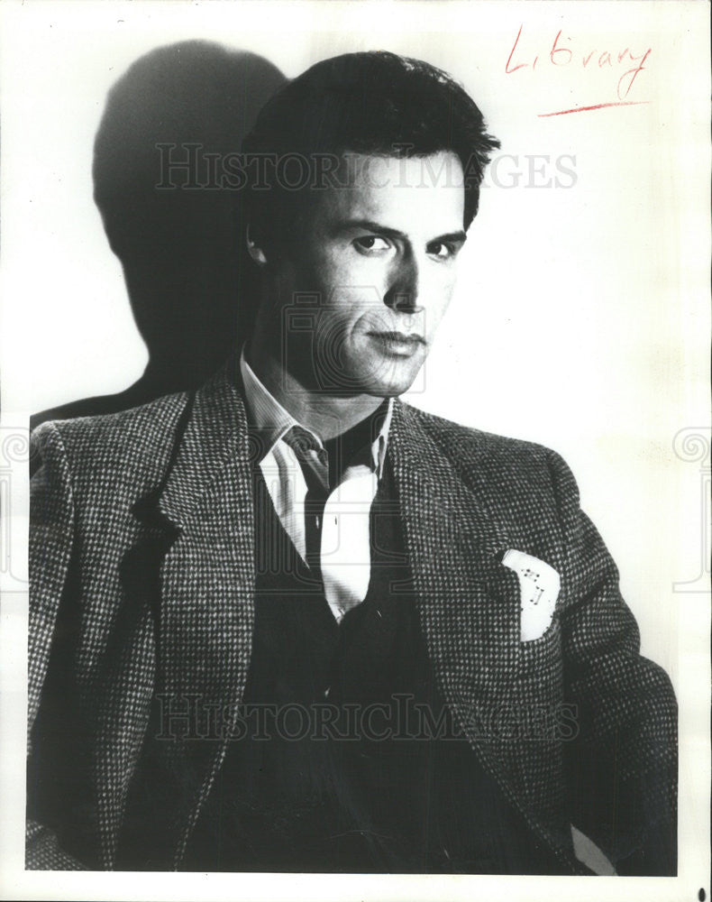 Press Photo Michael Nader Actor Dynasty Soap Opera - Historic Images