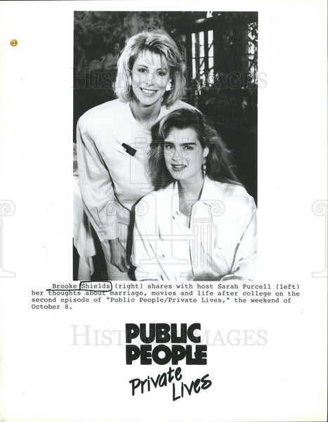 Press Photo Brooke Shields Sarah Purcell Public People Private Lives - Historic Images