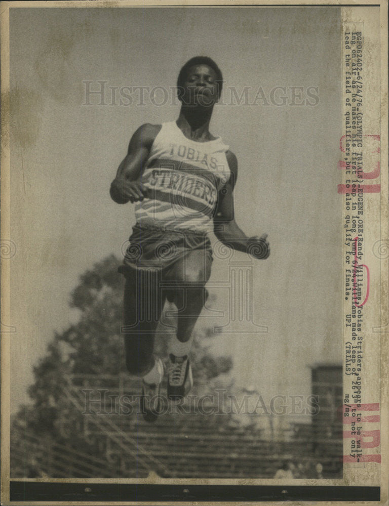1976 Press Photo Randy Williams at Olympic Qualifying trials - Historic Images