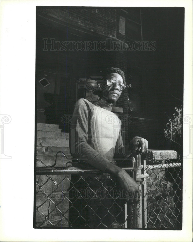 1983 Press Photo Lucius Williams Robbery Victim - Historic Images