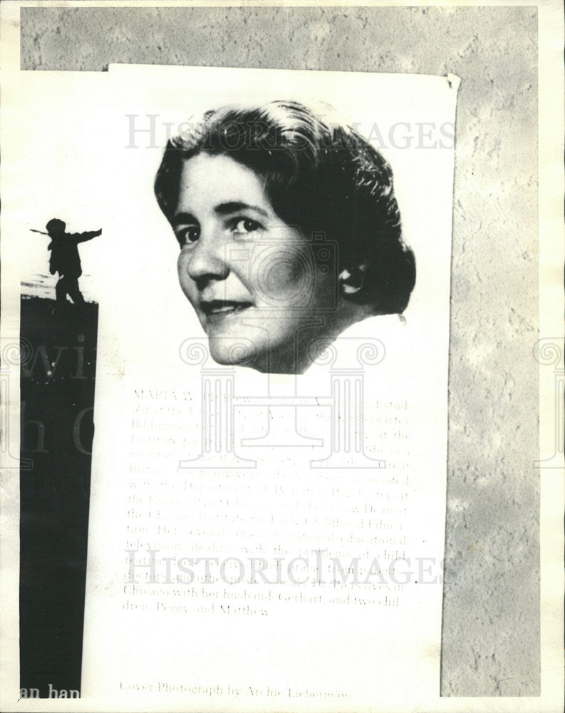 1966 Press Photo Maria W. Piers,author,psychologist - Historic Images