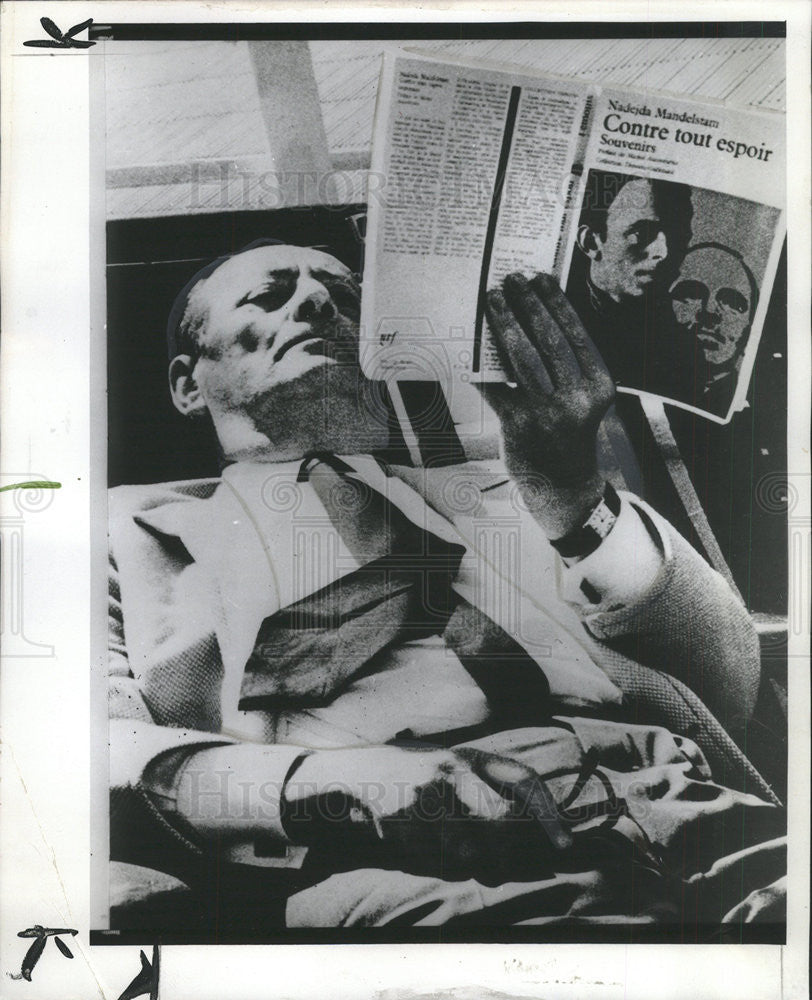 1975 Press Photo Andre Malraux,stateman - Historic Images