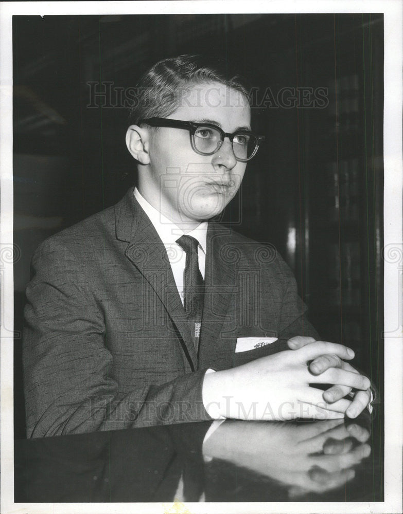 1960 Press Photo of teen David Nesius, killed his mother in Chicago - Historic Images