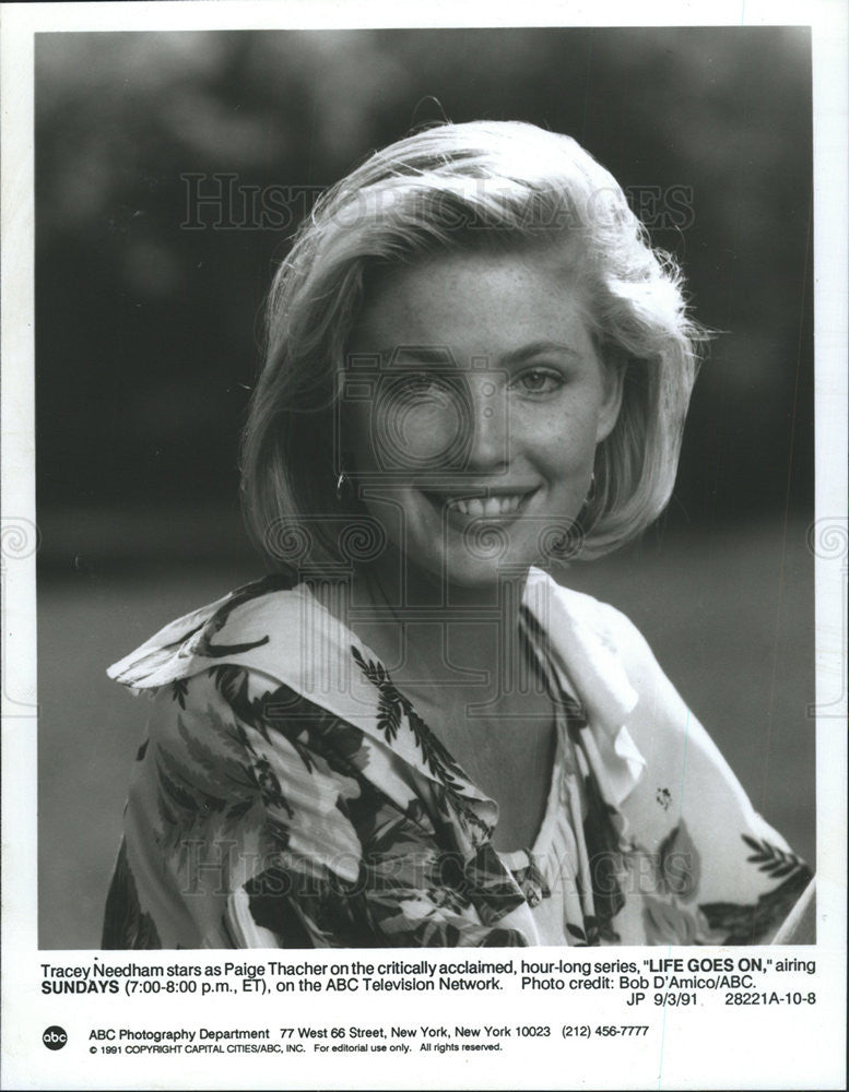 1991 Press Photo Tracey Needham,actress - Historic Images