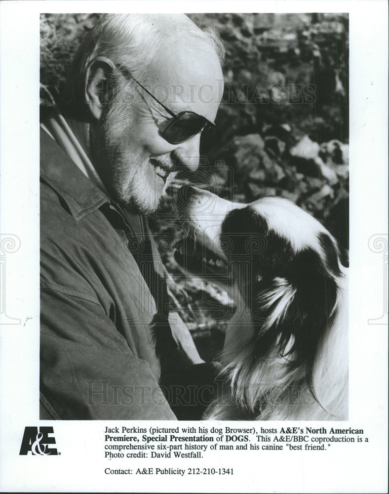 1993 Press Photo Jack Perkins,TV host - Historic Images