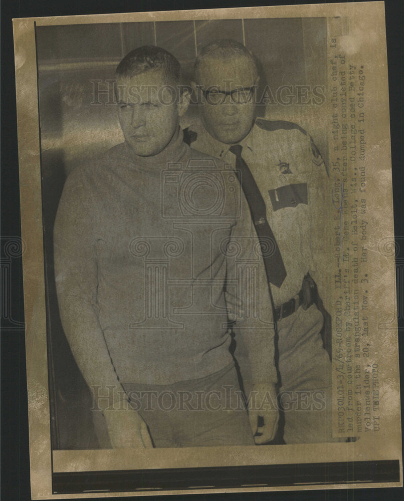 1969 Press Photo Robert Long and Lt Gene Ebens.He murdered a coed - Historic Images
