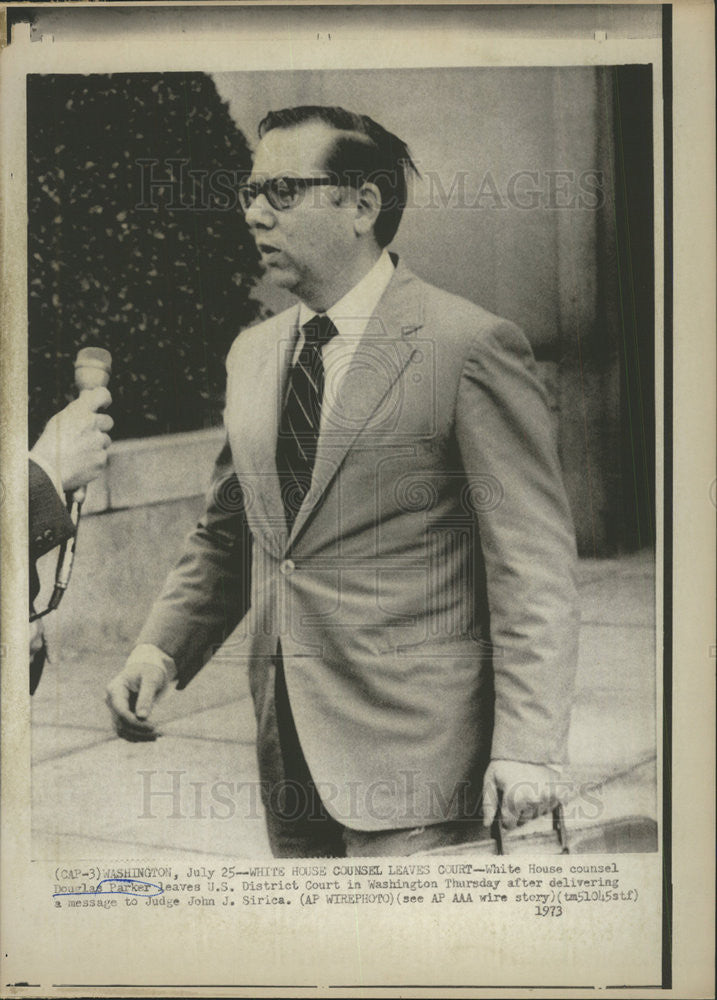 1973 Press Photo Douglas Parker,White House counsel - Historic Images