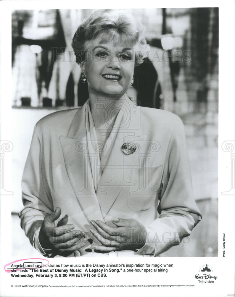 1993 Press Photo Angela Lansbury British Film Television Actress - Historic Images