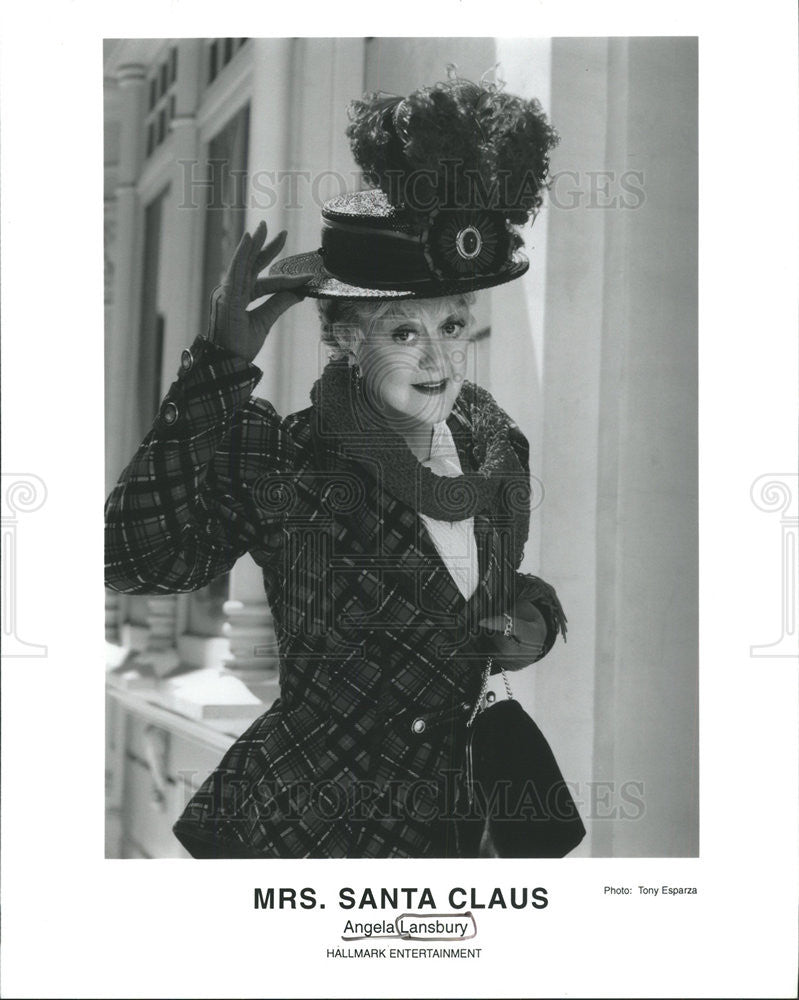 "Press Photo Angela Brigid Lansbury Actress Singer ""Mrs Santa Claus"" TV Show - Historic Images"