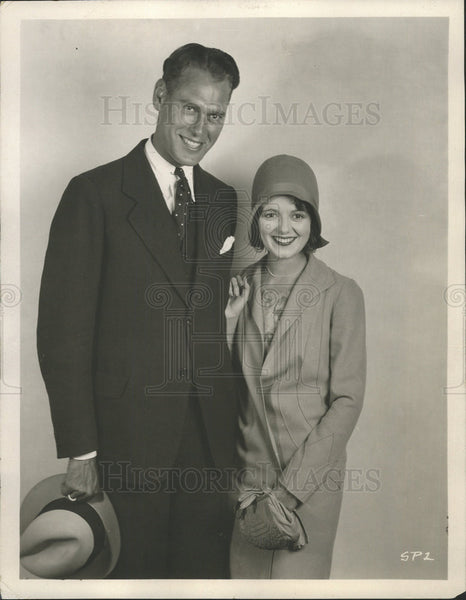 press photo Actress Janet Gaynor and husband Lydell Peck - Historic Images