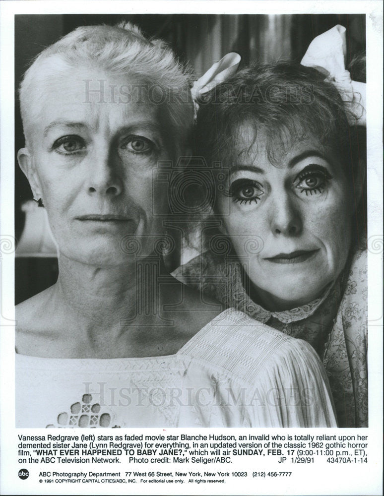 1991 Press Photo Lynn Redgrave English Stage Film Actress British Family Britain - Historic Images