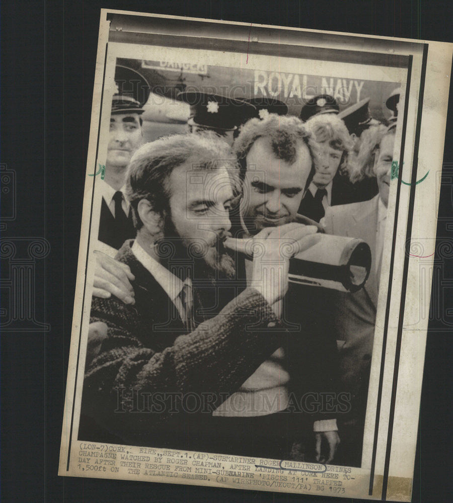1973 Press Photo Submariner Roger Mallinson and Roger Chapman - Historic Images