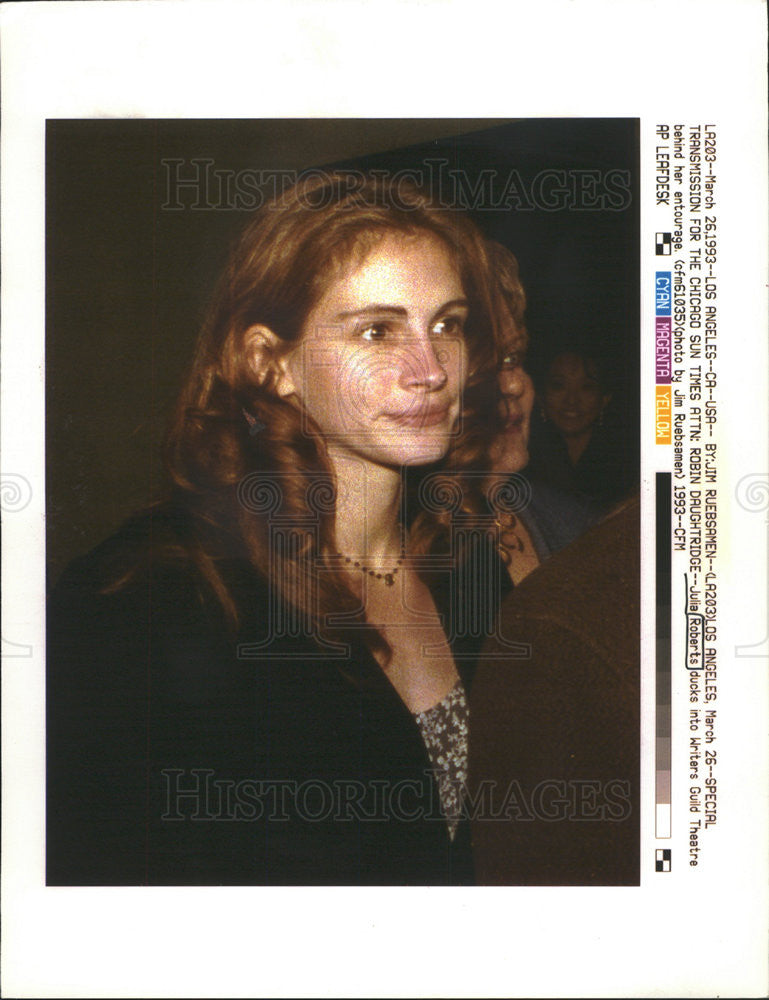 1993 Press Photo JULIA ROBERTS AMERICAN ACTRESS - Historic Images