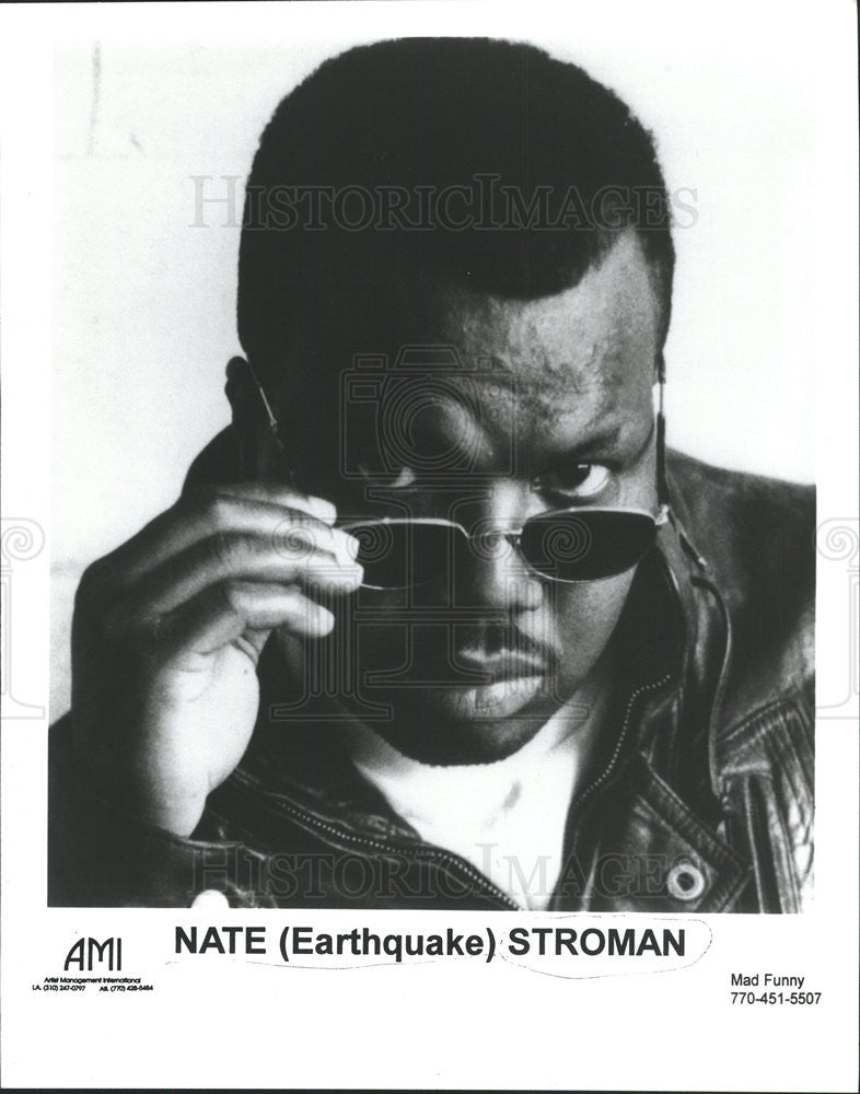 PRESS PHOTO NATHANIEL MARTIN STROMAN EARTHQUAKE AFRICAN AMERICAN ACTOR - Historic Images