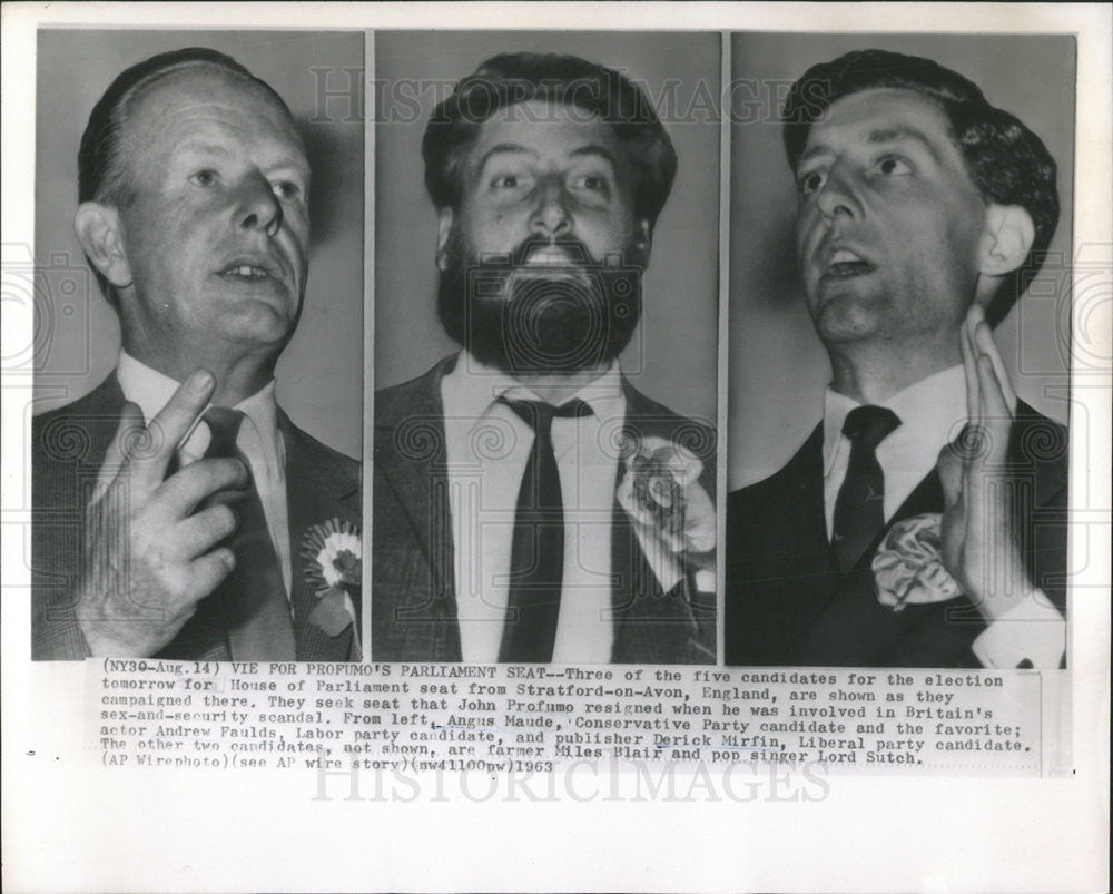 1963 Press Photo House of Parliament candidates - Historic Images