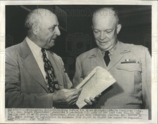 Press Photo General Dwight Eisenhower House Military Affairs chairman May - Historic Images