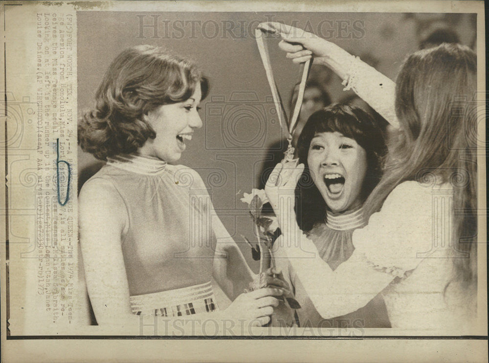 1973 Press Photo 1974 Miss Teenage America Honolulu Miss Lori Matsukawa - Historic Images