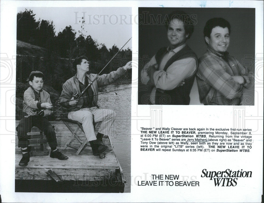 "1991 Press Photo ""Beaver"" and Wally Cleaver are back again in the Exclusive - Historic Images"