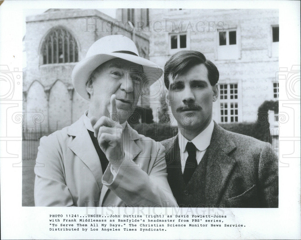 Press Photo Frank Middlemass and John Duttine - Historic Images