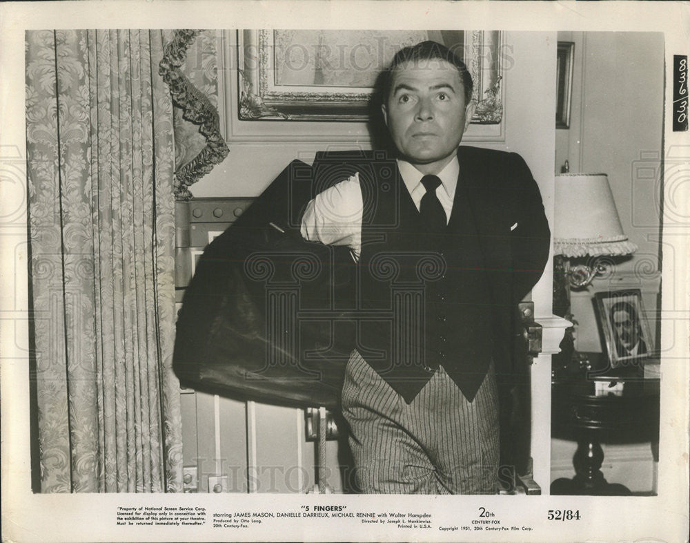 1962 Press Photo James Mason.actor - Historic Images
