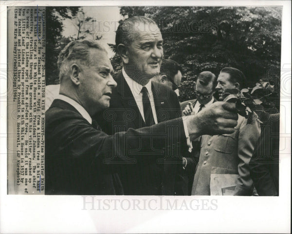 1964 Press Photo New Zealand Politician Prime Minister Keith J. Holyoake - Historic Images