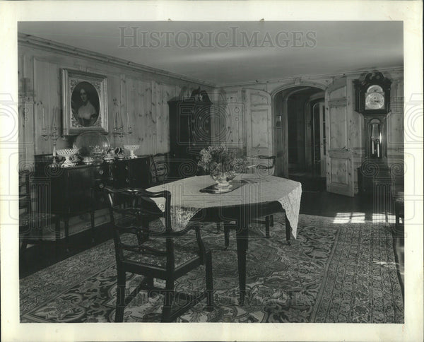 1936 Press Photo Young Scammon McPherson Dining Room - Historic Images