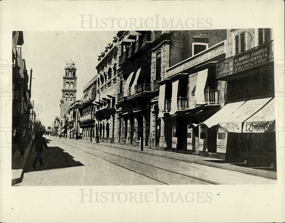 1914 Press Photo Main Business Street in Vera Cruz - Historic Images