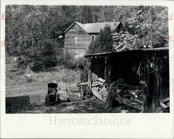 1971 Press Photo Old Murphy's Cedar Creek Place in Hills of Western N Carolina - Historic Images