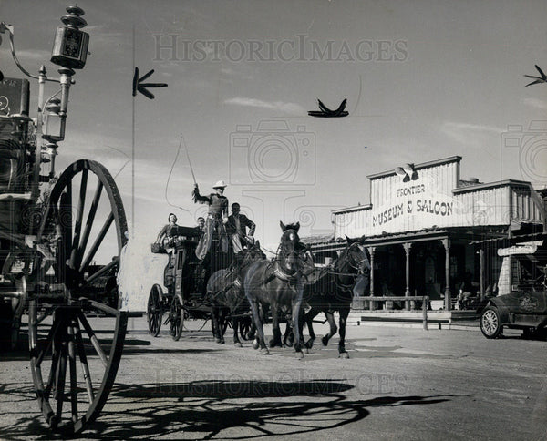 1953 Press Photo Last Frontier Village, Las Vegas Replica of Old-Time Nevada - Historic Images