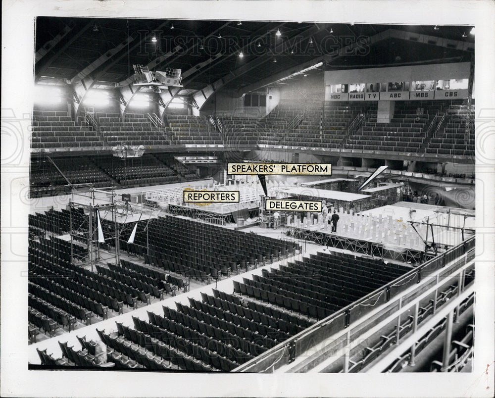 1956 Press Photo Democratic Convention - Historic Images
