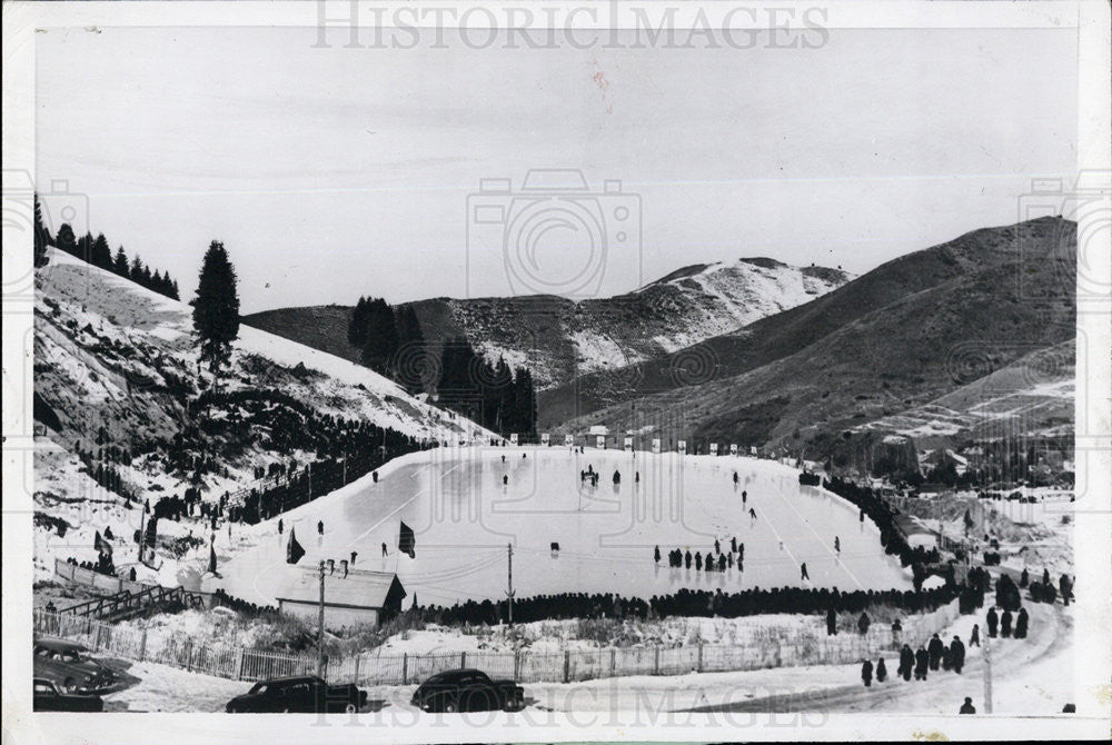 1957 Press Photo Natural Rink Russia - Historic Images