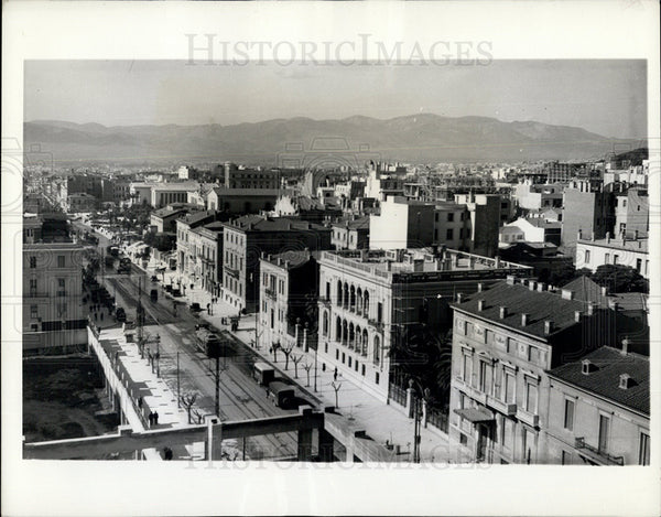 1943 Press Photo A Street in Athens Greece Center of Greek Culture - Historic Images