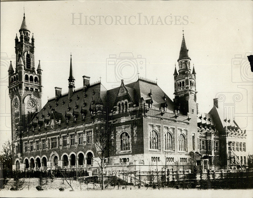 1915 Press Photo The Hague Peace Palace - Historic Images
