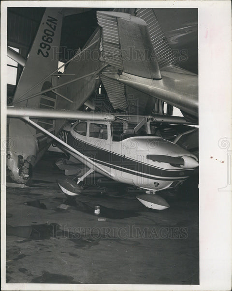 1966 Press Photo Hurricane Alma, Airplane Damage, Hangers - Historic Images