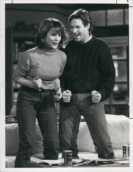 1990 Press Photo Robert Hays Actor Patricia Richardson Actress Doing It Again - Historic Images