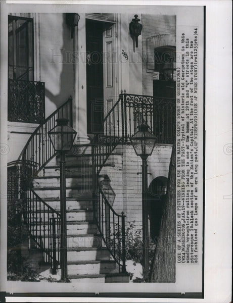 1964 Press Photo Architecture in Georgetown, Washington D.C. - Historic Images