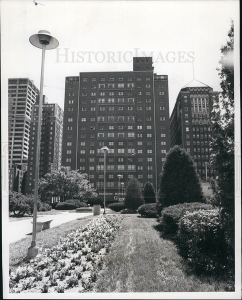 1976 Press Photo Renovated Muehlebach Hotel in Kansas City, MO. - Historic Images