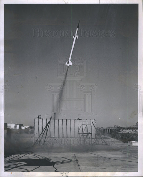 1956 Press Photo Terrapin Guided Missile Rocket Launched - Historic Images
