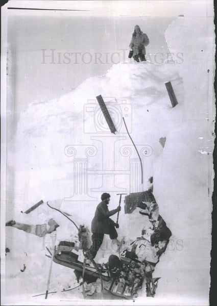 1958 Press Photo Little America, Antarctica, Operation Deepfreeze Polemen - Historic Images